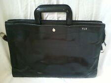 GOLDPFEIL Black Leather Attache Briefcase  - Vintage Style looks beautiful