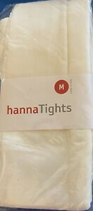 girls cream ballet tights by Hanna new in bag w/price and product info