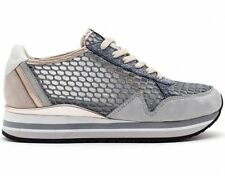Crime London Shoes Sneakers donna woman size 39 6UK grey grigio web rete.