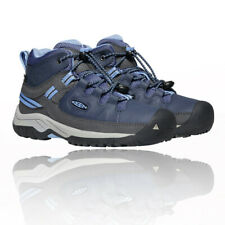 Keen Boys Targhee Mid Waterproof Walking Boots Blue Sports Outdoors Breathable