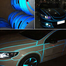 1pc Blue Roll Car Joint Strip Stickers Reflect Light Truck Warning PVC Decal TOP