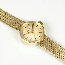 Lanco Damenuhr, 585 Gelbgold, stabiles Armband, Gewicht 24,6 Gr.; 16,4 cm