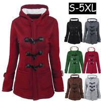 Winter Women's Slim Coat Hooded Long Jacket Outwear Overcoat Trench Warm Parka