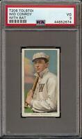 Rare 1909-11 T206 Wid Conroy With Bat Tolstoi Back Washington PSA 3 Low Pop