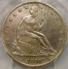 1871 CC LIBERTY SEATED SILVER HALF DOLLAR BEAUTIFUL VERY RARE PCGS XF 45 DETAILS