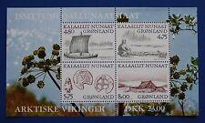 Greenland (354a) 1999 Arctic Vikings MNH minisheet