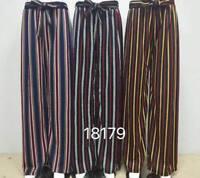 WOMEN'S Pleated Wide Leg Palazzo Culotte Trouser Flared High Waist Harem Pants