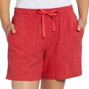 NWT Nautica Women's Linen Blend Pull On Shorts Red Blue Green S, M, L, XL, 2XL