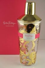 "Brand New LILLY PULITZER Glass Cocktail Shaker ""Sea Life"" Gold Metallic Octopus"
