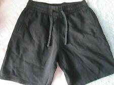 H&M - Black Un Lined Mid Thigh Marl Shorts Size M - 100% Cotton