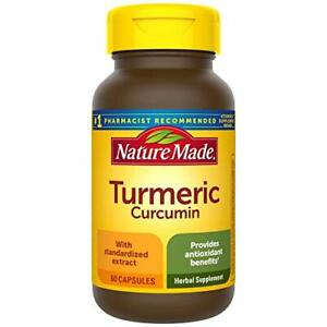 Nature Made Turmeric 500 mg Capsules, 60 Count for Antioxidant Support