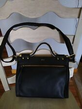 NWT RELIC By Fossil Tyla Crossbody Satchel handbag Purse Black White