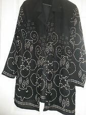 PRICIPLES BLACK AND CREAM PATTERNED LONG SLEEVE BLOUSE