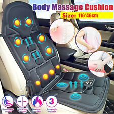 8 Mode Massage Seat Cushion Heated Back Neck Massager Body Chair for Home & Car