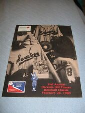 autographed program 1989 Old Timers Baseball Classic Andy Seminick Lee Stange +