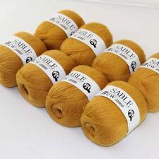 8Ballsx50g Pure Sable Cashmere Hand Knitwear Wool Shawls Soft Crochet Yarn 27