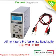 ALIMENTATORE DA BANCO CON DISPLAY DIGITALE 0-30V 0-10A REGOLABILE SWITCHING SLIM