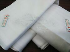 New hand rolled white 100% cotton men's handkerchief  1 dozen