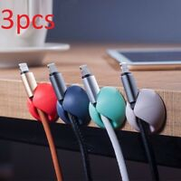 Small Cable Table Clip Stick Wire Organizer Desk Office Charger Cord Holder Plug