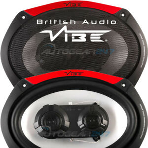 "600w Vibe Audio Pulse 69-V4 6""x9"" 600w Car Van Tri-axial Oval Speakers Set PAIR"