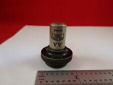 VINTAGE CARL ZEISS JENA GERMANY 10X OBJECTIVE MICROSCOPE OPTICS AS IS &33-A-07