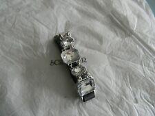 Premier Designs CRYSTAL DROPS black leather bead bracelet RV $41 free ship nwt