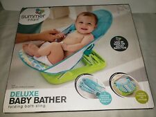 SUMMER INFANT DELUXE BABY BATHER FOLDING BATH SLING AGE BIRTH UNTIL SITTING UP
