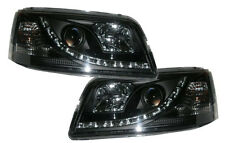 VW Transporter T4 93-03 Black DRL Projector Headlights Lighting Lamp Part Type 2