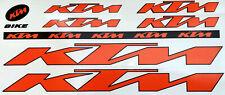 KTM Sticker Set Aufkleber Bike Fahrrad Ebike Stickers Logo Aufkleberset Orange