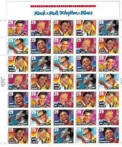 US SCOTT 2724 - 30 PANE OF 35 ROCK & ROLL RHYTHUM-BLUES STAMPS 29 CENT FACE MNH