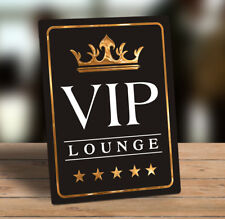 Decorative Metal freestanding hanging sign plaque VIP Lounge quote 20x15cm