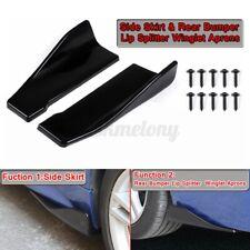 Universal Car Side Skirt Rear Bumper Lip Splitter Winglet Aprons For BMW HONDA