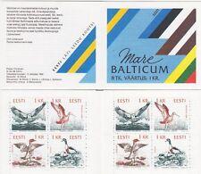 Sea Birds Mare Balticum Estonia Booklet 1992 MNH !!!!
