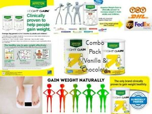 COMBO 2 TIN Appeton Weight Gain chocolate and vanilla Powder 450g