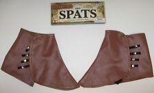Steampunk Short Spats Shoe Covers Victorian Industrial Adult Costume Accessory