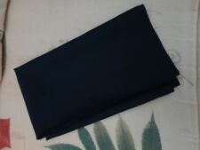 New Navy Satin Back Crepe Fabric  48cm Long  x  1.12 Metres Wide