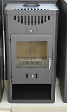 Wood Burning Stove Integral Boiler 11-16 kW Solid Fuel Fireplace  Wood/Coal