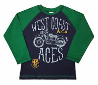Kids Boys Designer Long Sleeve T-Shirts 100% Cotton Junior Tops Age 2-10 Years