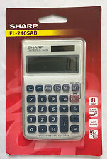 Sharp Handheld Desk Top Calculator Basic 8 Digit Desktop Solar Powered EL240SAB