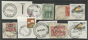VICTORIA · 10 different POSTMARKS selected for quality · some scarcer (1331)