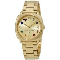 NEW Marc by Marc Jacobs Mandy Crydtal Metal Band Gold Women's Watch MJ3549