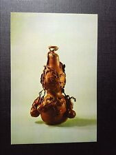 CPSM VASE IN THE SHAPE OF GOURD CARVED FROM BOXWOOD MID CH'ING