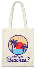 What's up beaches II sustancia bolso bolsa de compras Surfer mar bar playa tiki