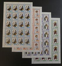 TIMBRES CENTRAFRIQUE** 1982 Série Norman Rockwell - 4 feuilles de 20T.(A540)
