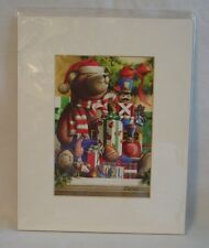 Christmas Teddy Bear Print Signed by Weber