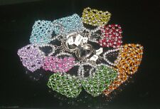 Lot of 10 Party Favor Beaded Purse Key Chains----will hold folded bill or note