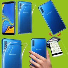Silikon Transparent + H9 Hartglas für Samsung Galaxy A7 A750F 2018 Tasche Hülle