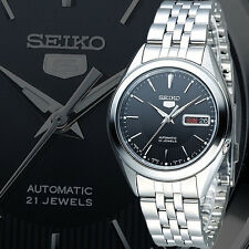 Seiko 5 SNKL23 SNKL23K1 Mens Stainless Steel Automatic Black Watch, Brand New