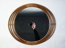 rattan spiegel 50er mid century design mirror miroir rotin