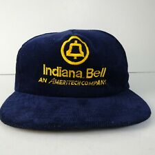 Vintage Indiana Bell Telephone Corduroy Hat Cap Snapback Ameritech